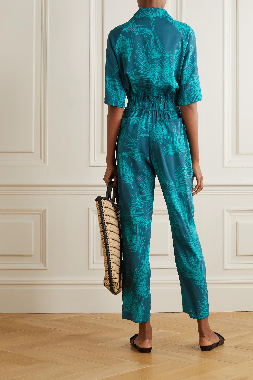 Émeraude Combi-pantalon En Voile Imprimé À Ceinture Apres | Paradised
