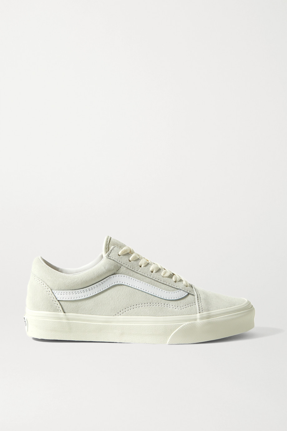 Vans Old Skool leather-trimmed suede sneakers