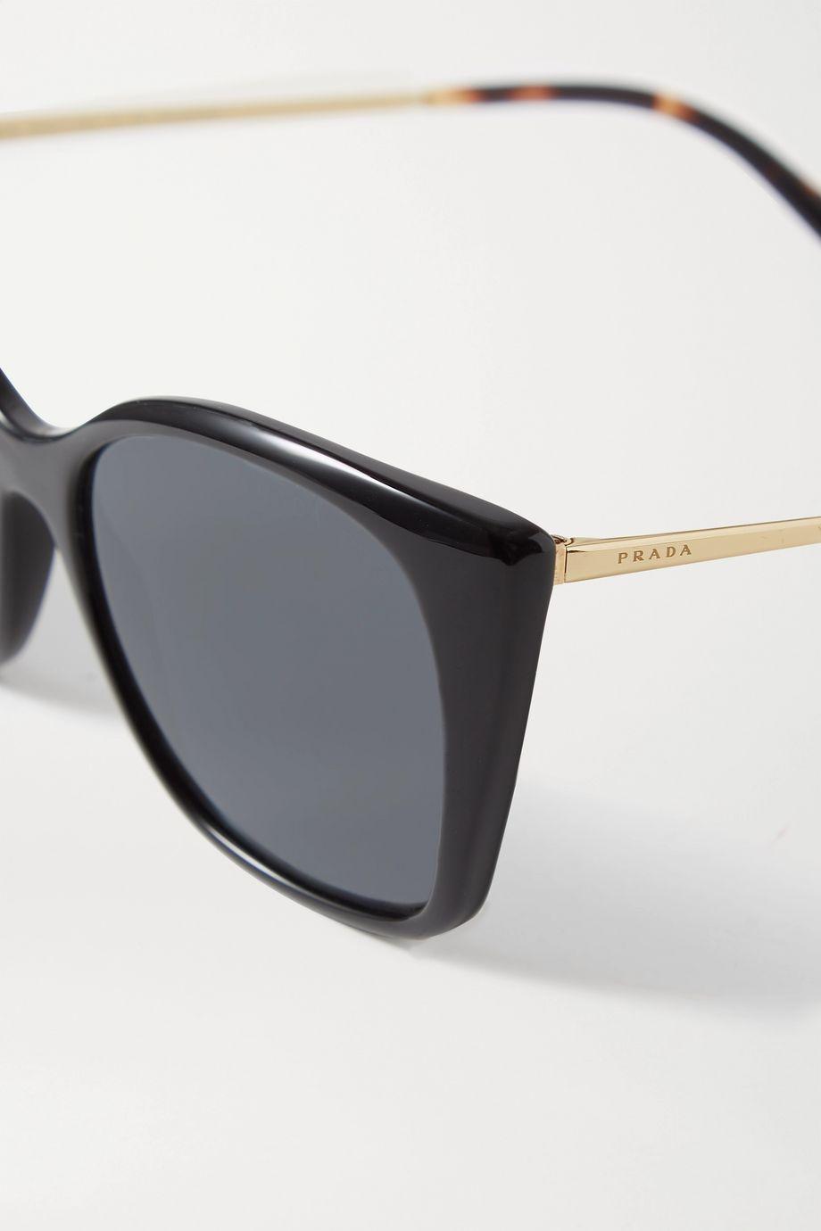 Prada Square-frame acetate and gold-tone sunglasses