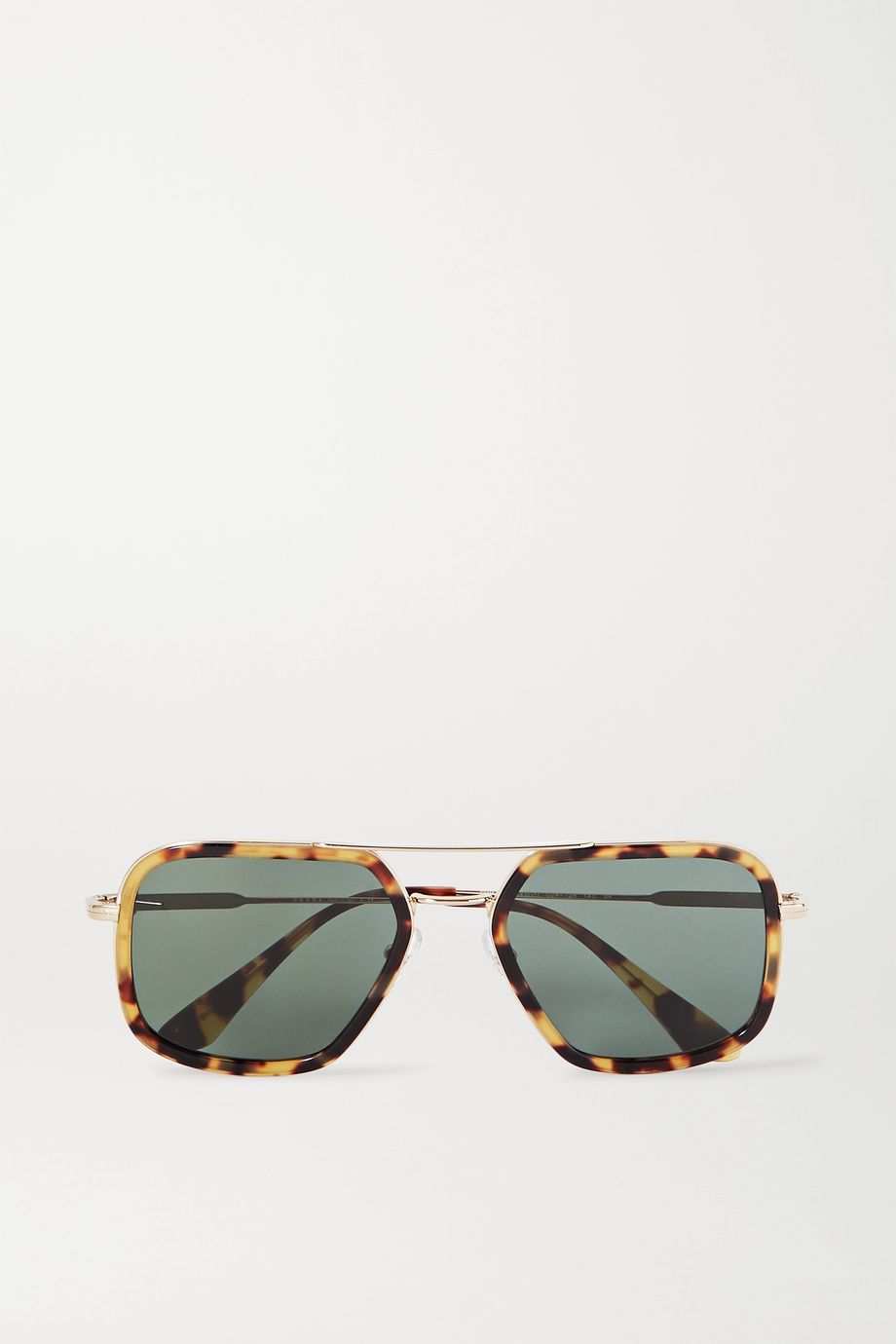 Prada Aviator-style gold-tone and tortoiseshell acetate sunglasses