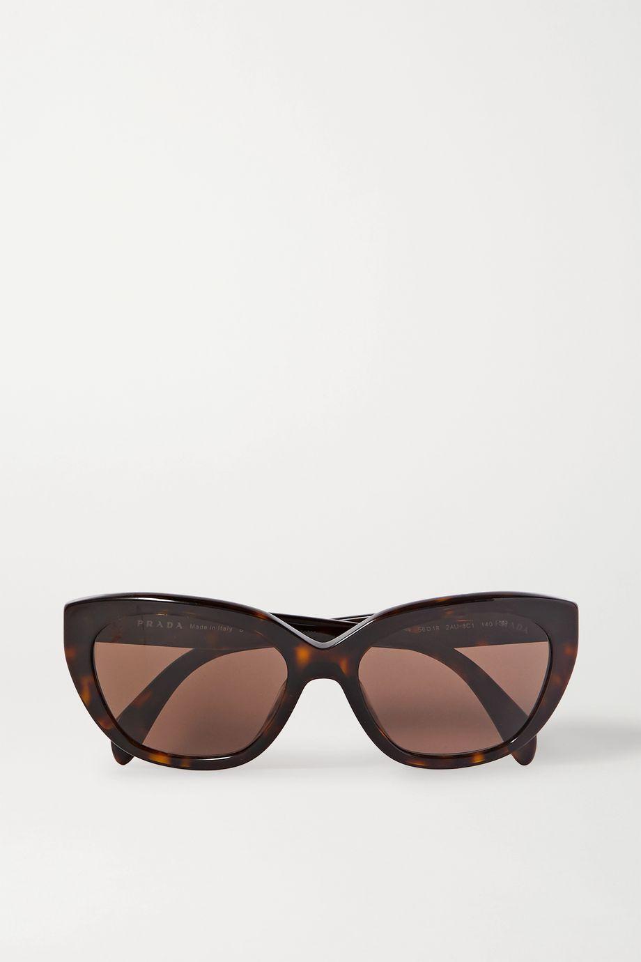 Prada Eyewear Round-frame tortoiseshell acetate sunglasses