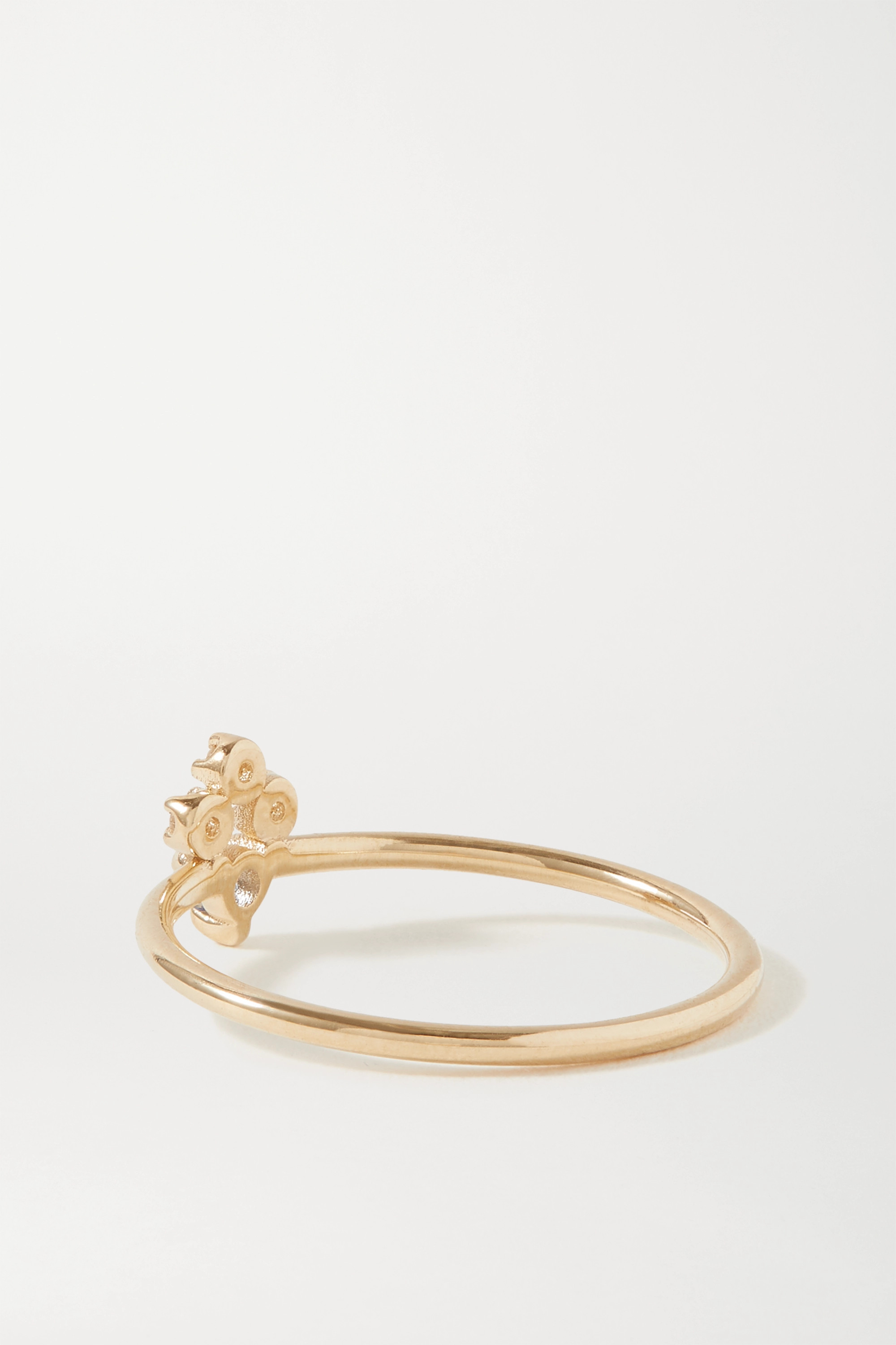 Wwake Posy gold sapphire and diamond ring