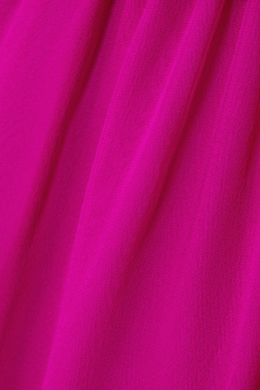 ARoss Girl x Soler Amanda belted silk-voile mini dress