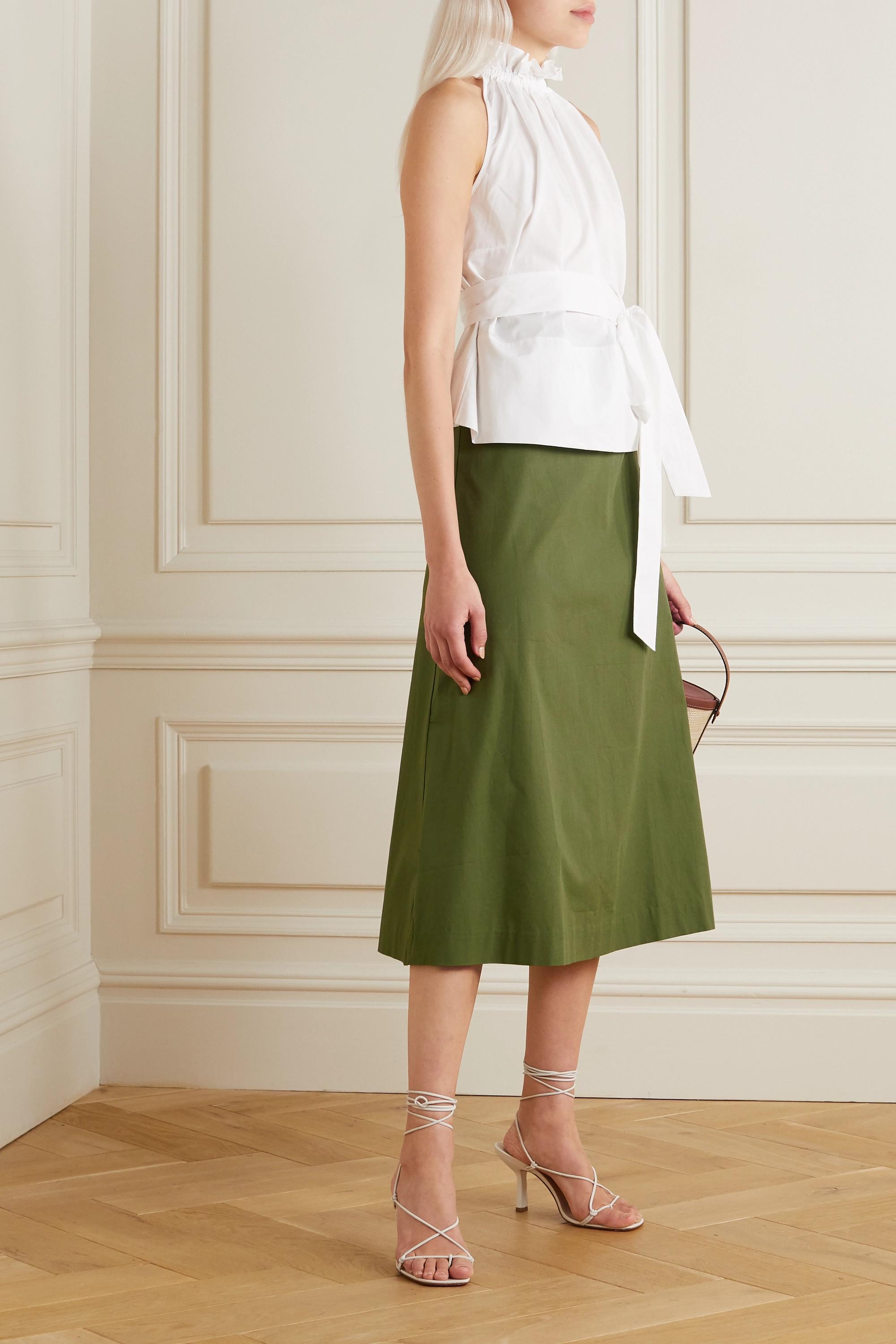 ARoss Girl x Soler Alma cotton midi skirt