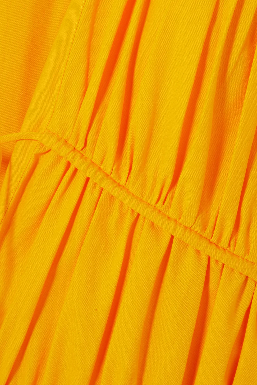 TOVE Robe midi en popeline de coton à fronces et à liens Ceres
