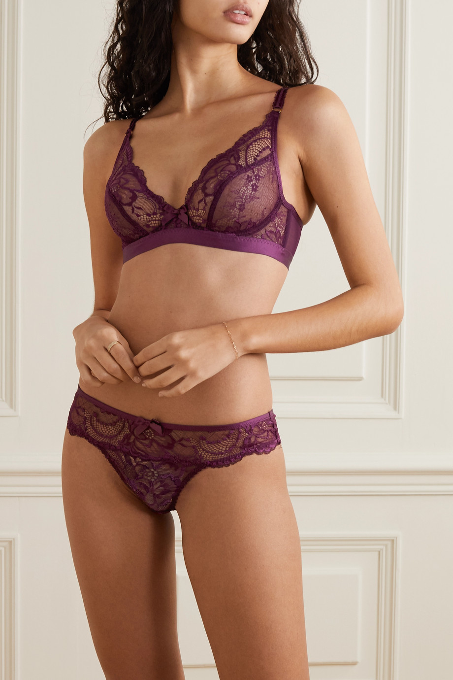 Agent Provocateur Carmella stretch-lace and tulle underwired bra