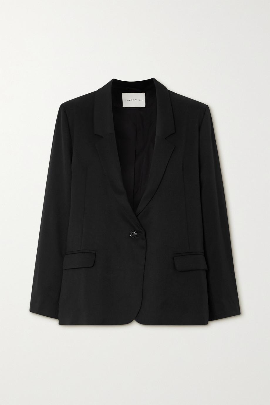 King & Tuckfield 羊毛斜纹布西装外套