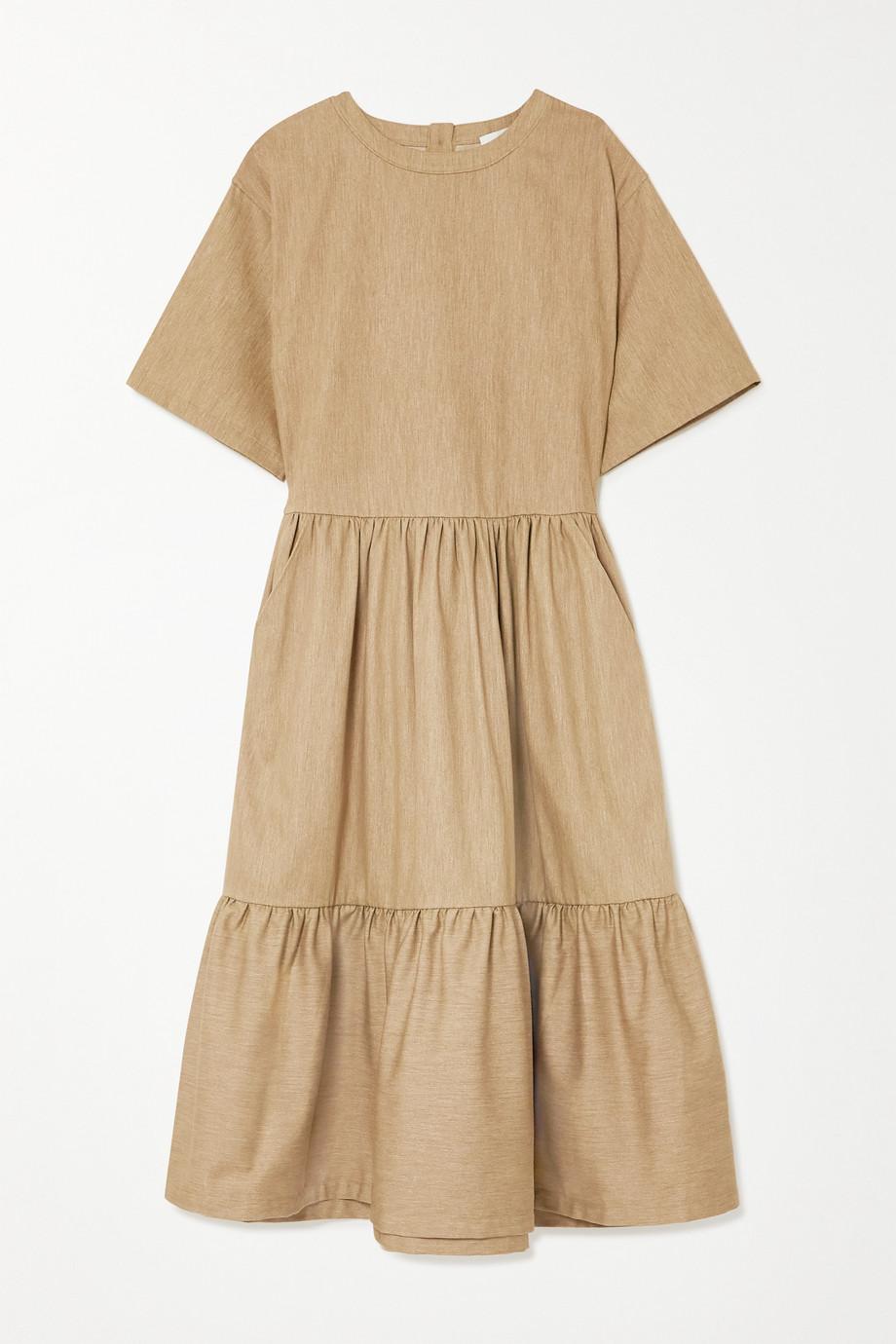 King & Tuckfield Tiered cotton midi dress