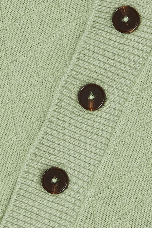 King & Tuckfield Jacquard-knit merino wool polo shirt