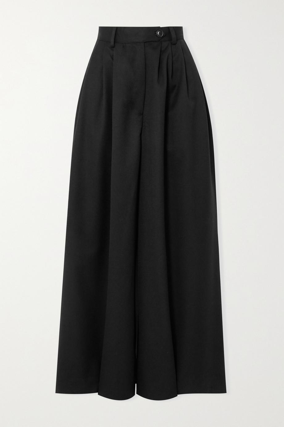King & Tuckfield Wool-twill wide-leg pants