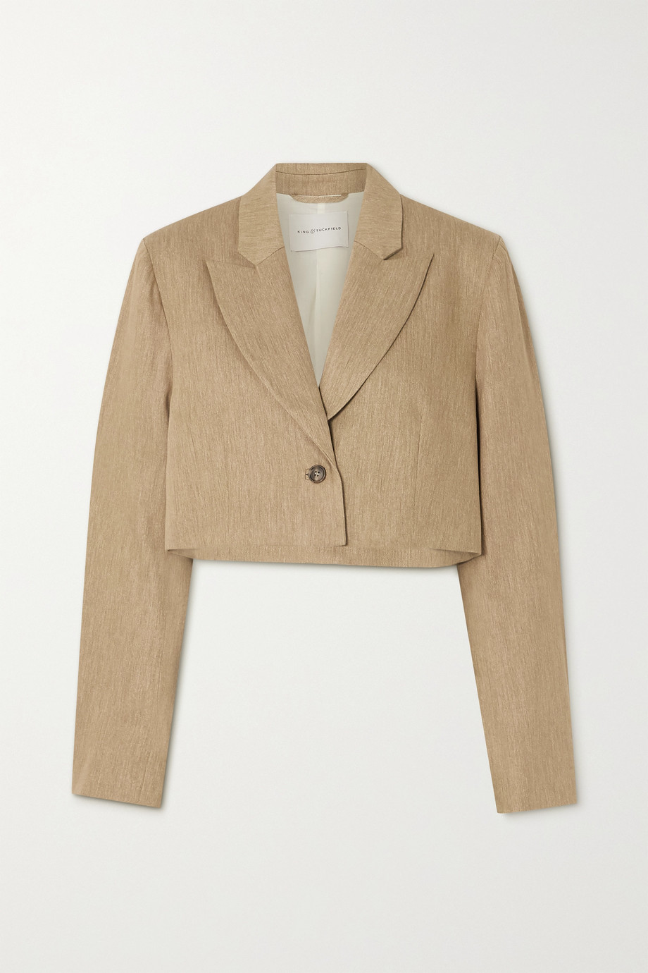 King & Tuckfield Cropped cotton blazer