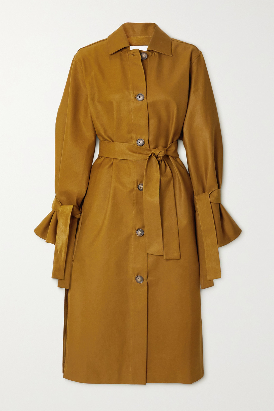 King & Tuckfield Cotton-blend gabardine trench coat