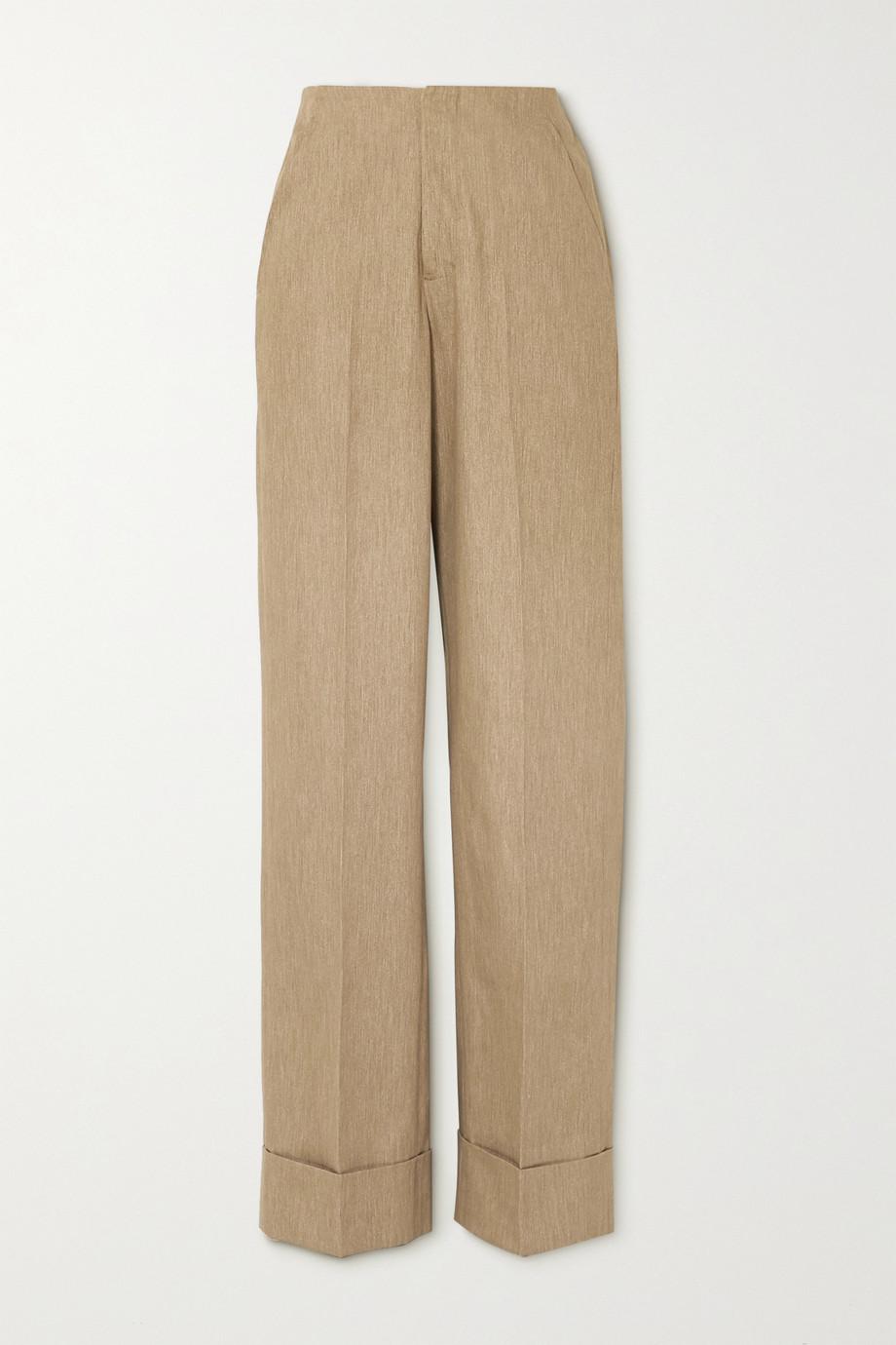 King & Tuckfield Cotton wide-leg pants