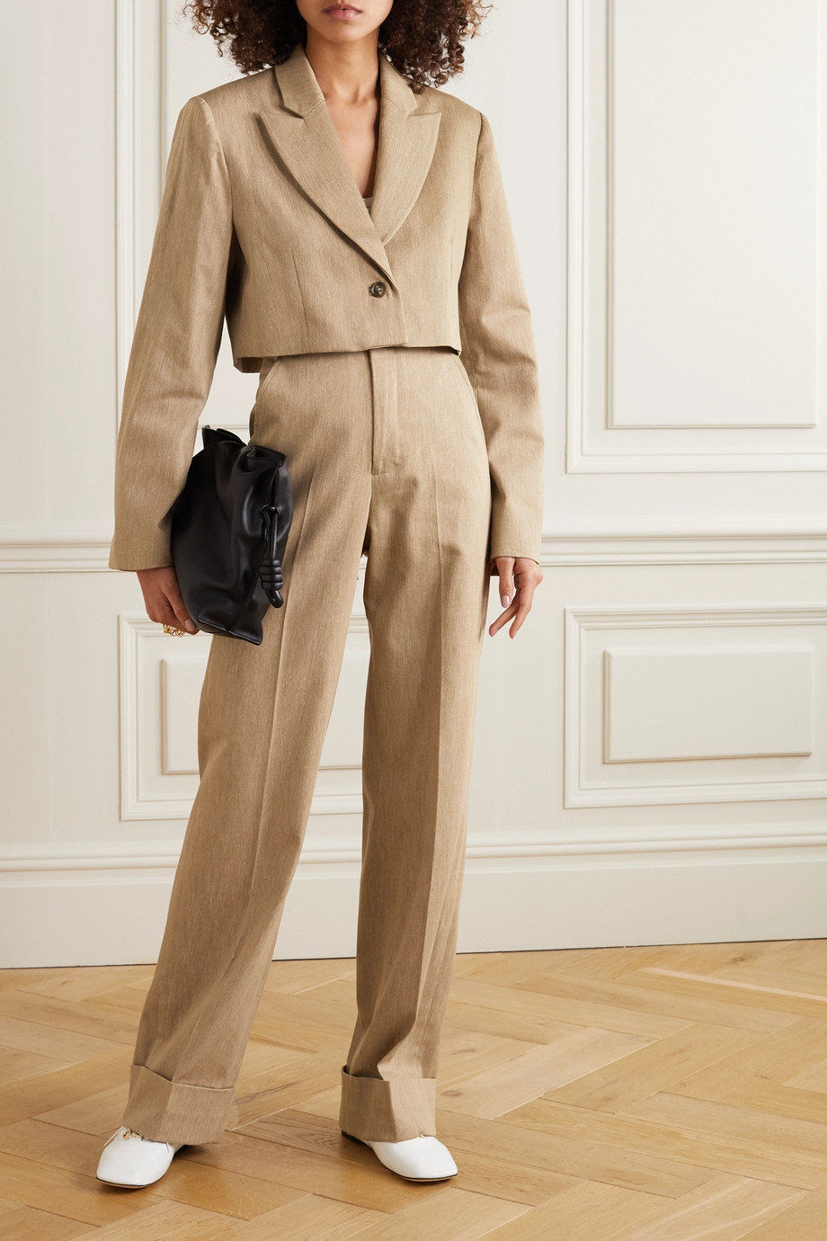 King & Tuckfield Pantalon large en coton