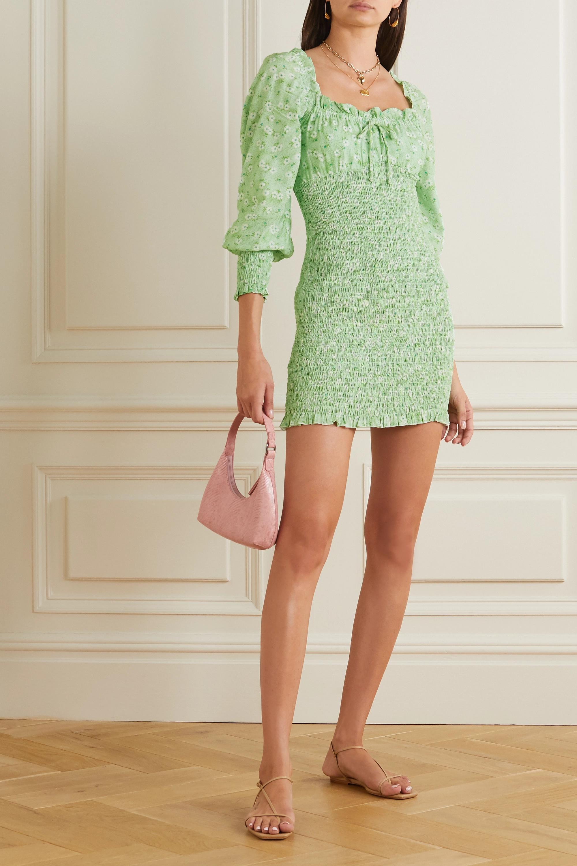 Faithfull The Brand + NET SUSTAIN Cosima shirred floral-print crepe mini dress