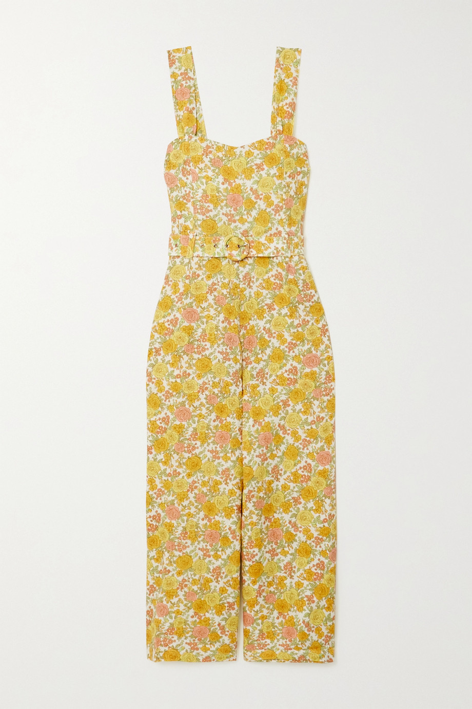 Faithfull The Brand + NET SUSTAIN Liv belted floral-print linen jumpsuit