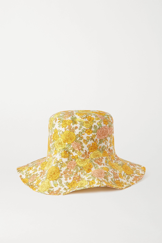 Faithfull The Brand + NET SUSTAIN Bettina Sonnenhut aus Leinen mit Blumenprint
