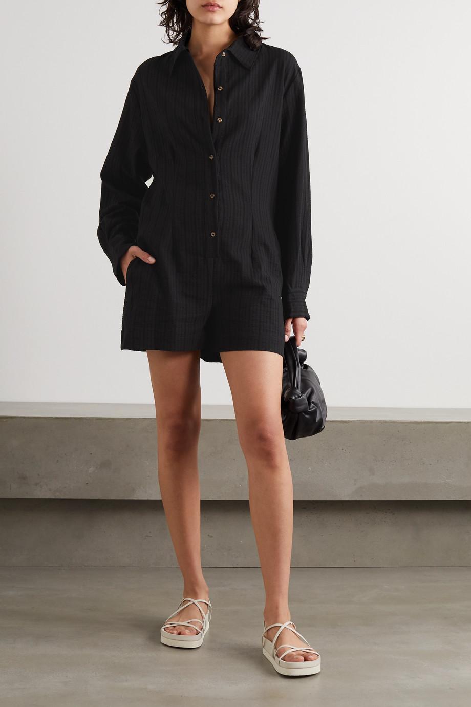Anemone The Lauren 棉麻混纺连身短裤