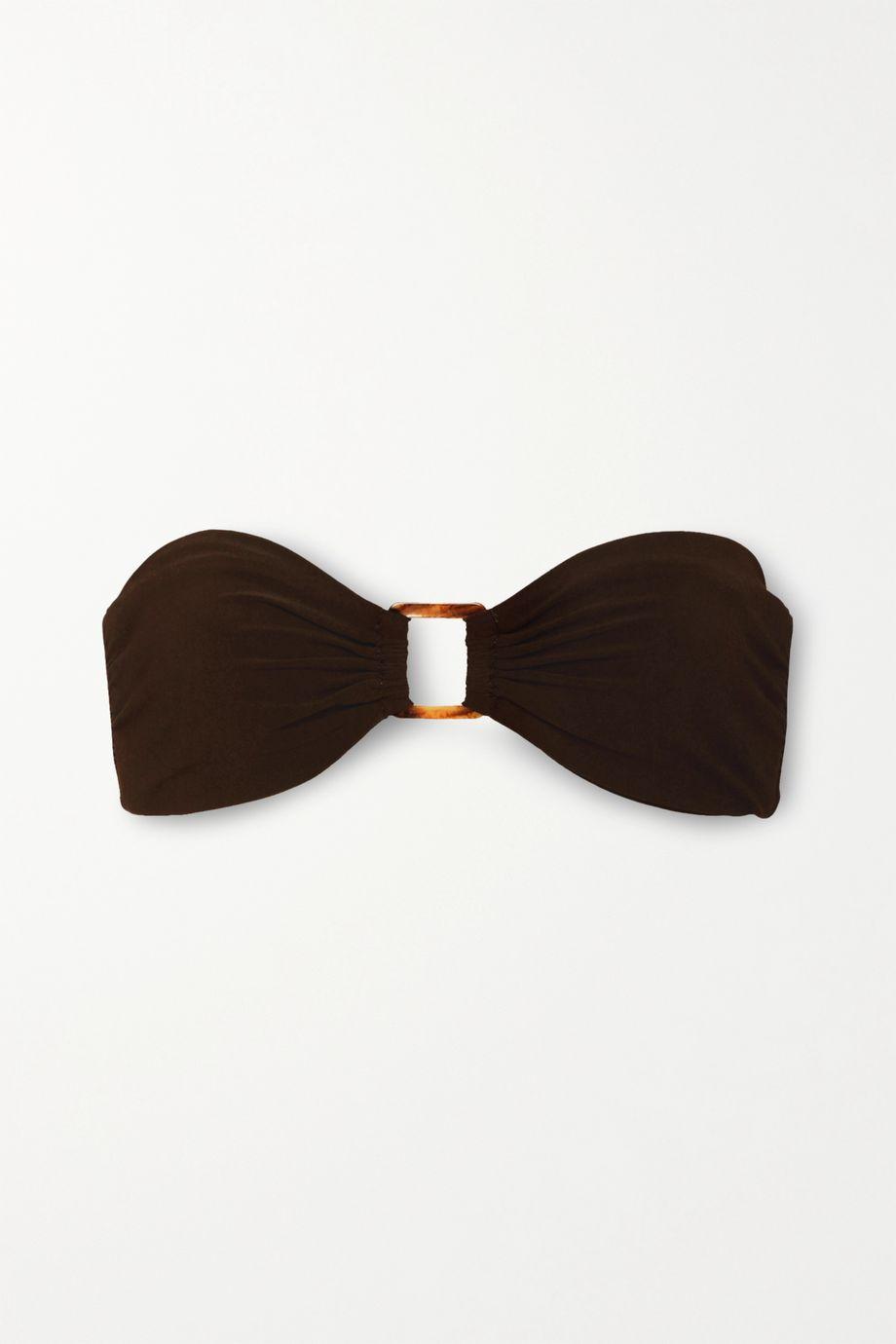 Anemone Bandeau-Bikini-Oberteil mit Verzierung