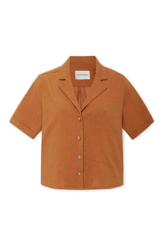 Anemone The Hutton linen-blend shirt