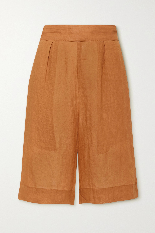 Anemone Board Shorts aus Ramie