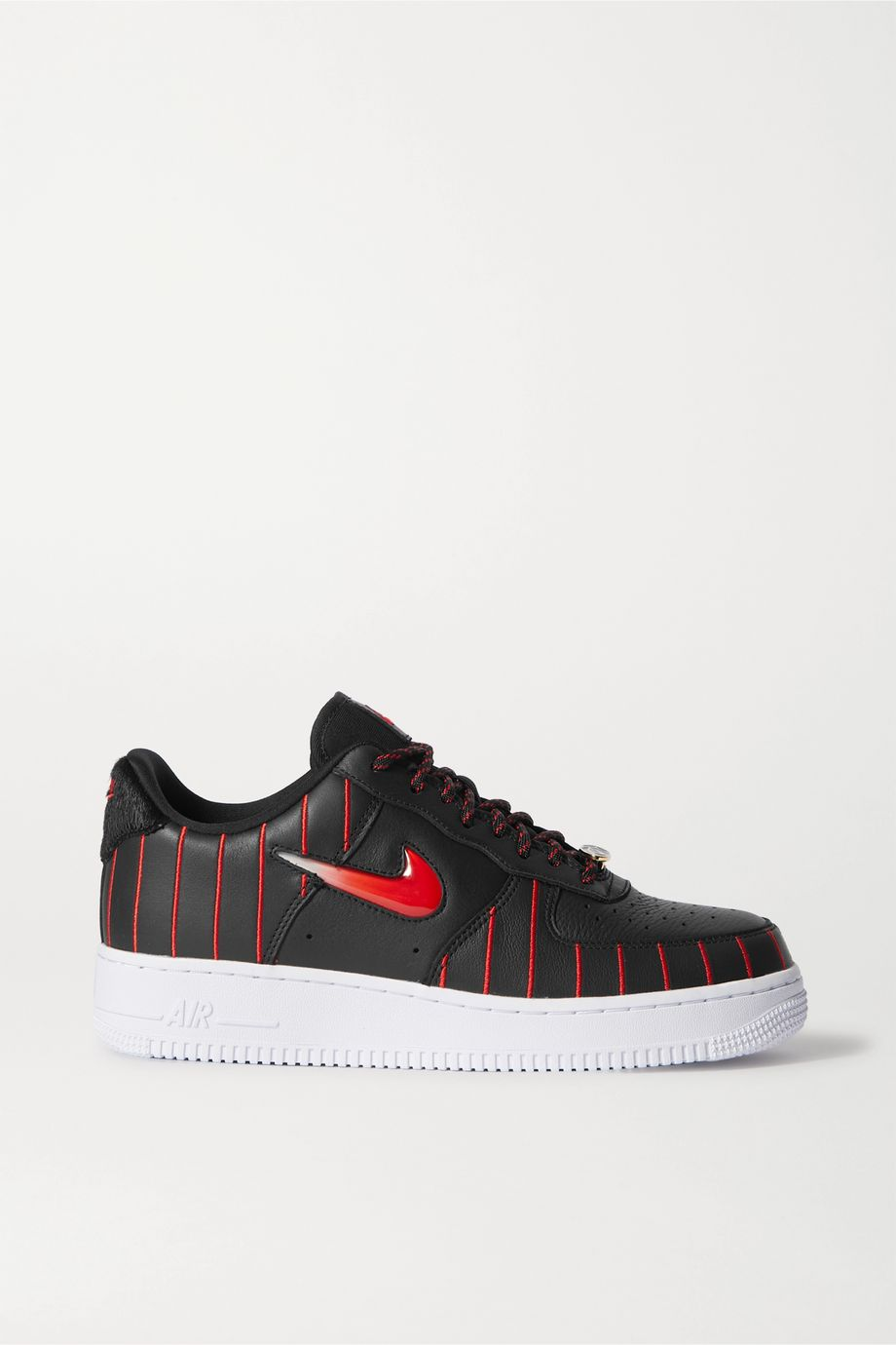 Nike Air Force 1 Jewel QS pinstriped leather sneakers