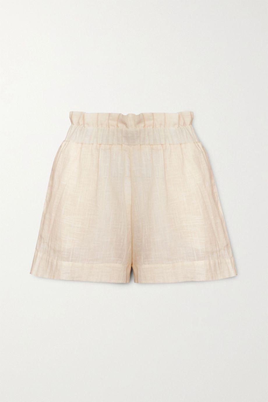 Cloe Cassandro + NET SUSTAIN Jamie organic cotton-gauze shorts