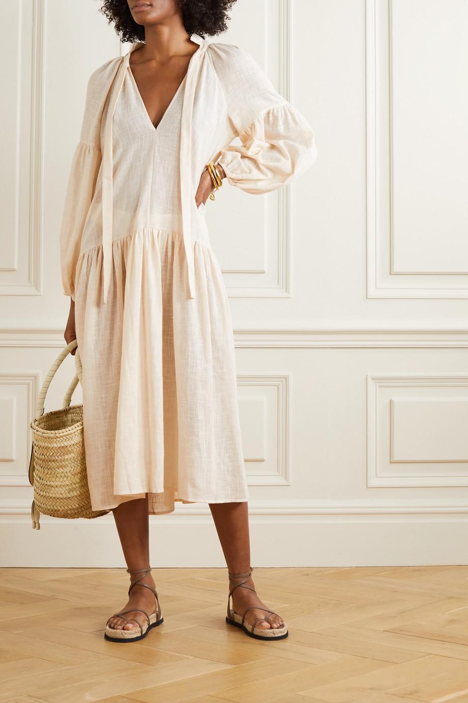 Cloe Cassandro + NET SUSTAIN Donna organic cotton-gauze dress