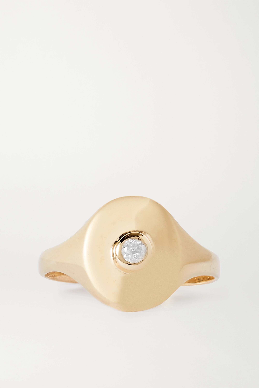 STONE AND STRAND Mini Pinky 14-karat gold diamond ring