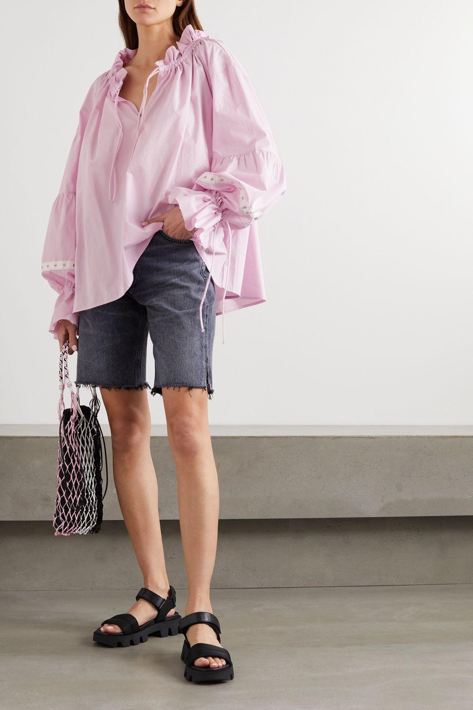 Marques' Almeida Eyelet-embellished organic cotton-poplin blouse