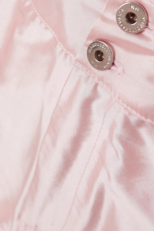 Rose Pantalon Treillis En Satin De Soie   Marques' Almeida