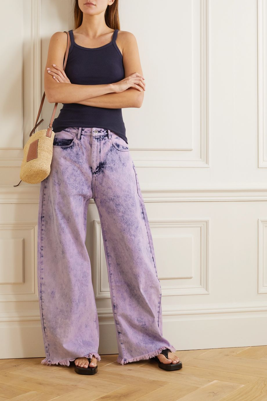 Marques' Almeida Frayed acid-wash boyfriend jeans