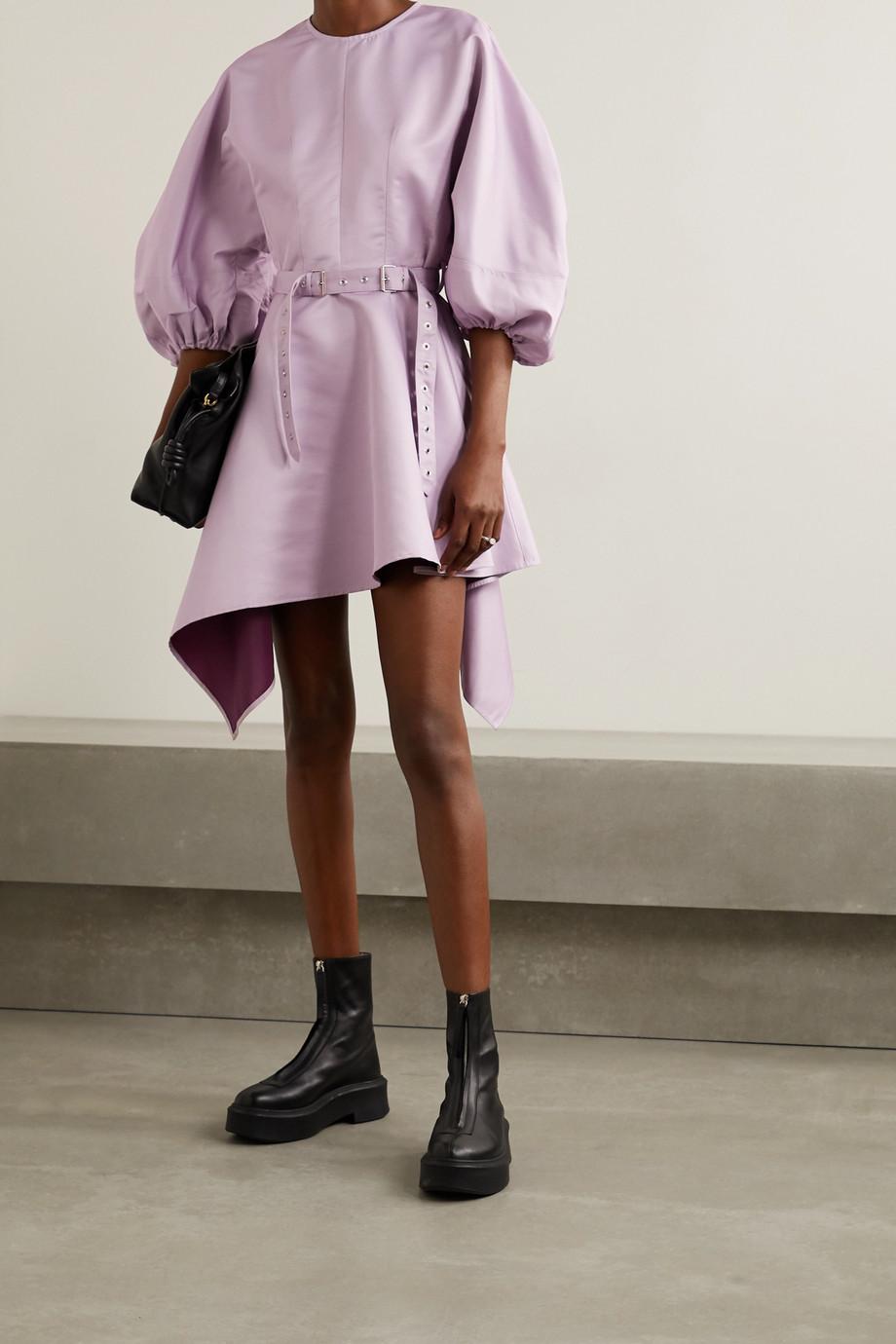 Marques' Almeida Asymmetric belted faille mini dress