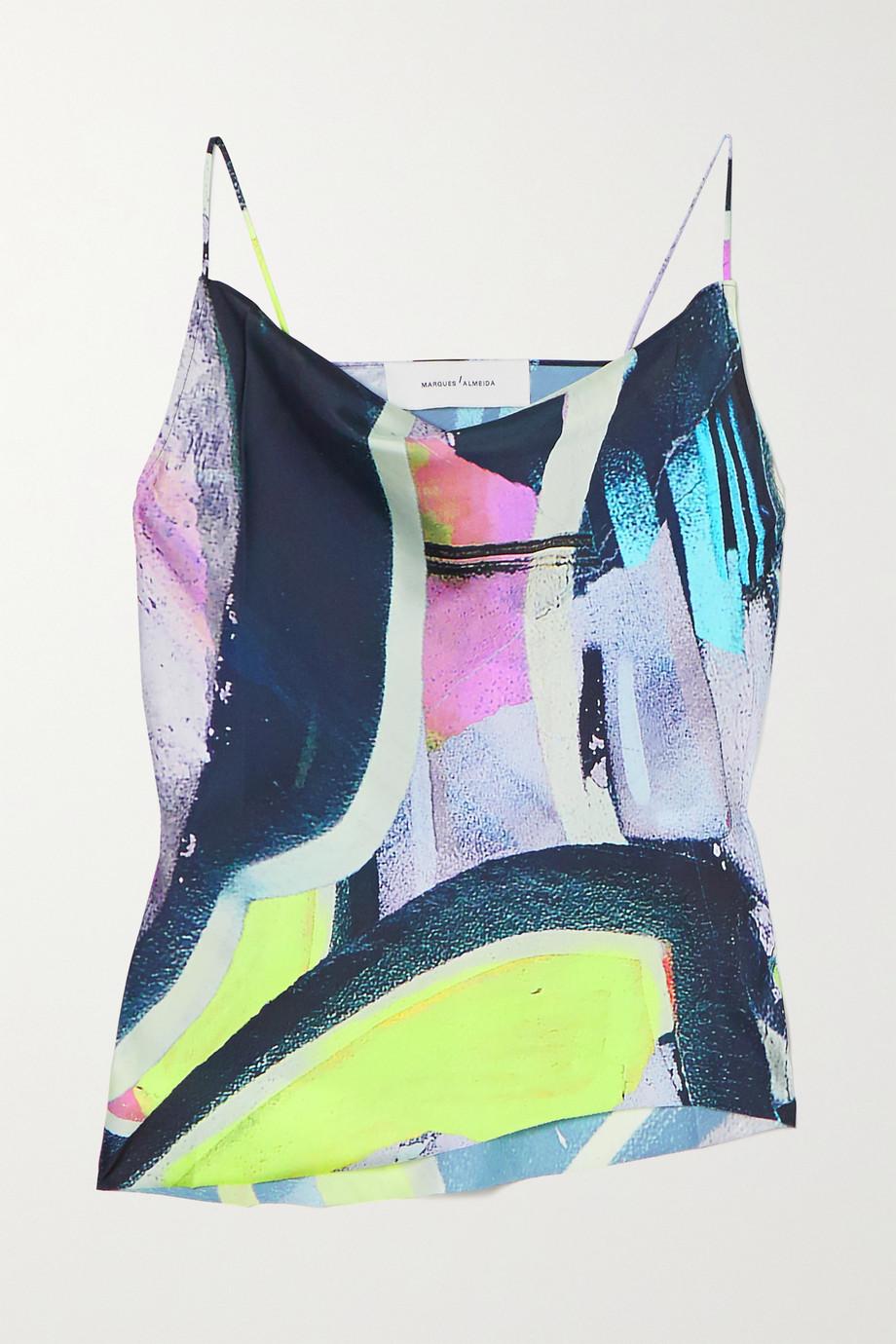 Marques' Almeida Draped printed crepe camisole