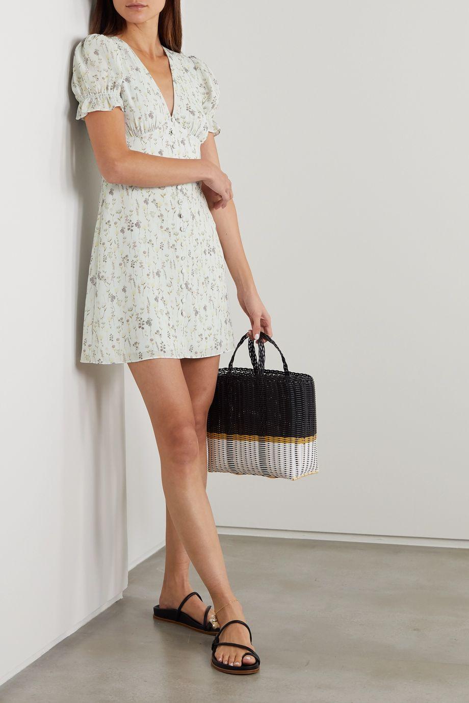 TVF Cupcake floral-print crepe de chine mini dress