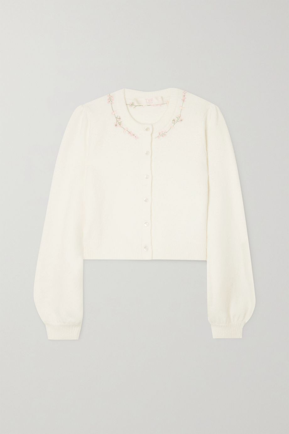 TVF Blondie embroidered knitted cardigan