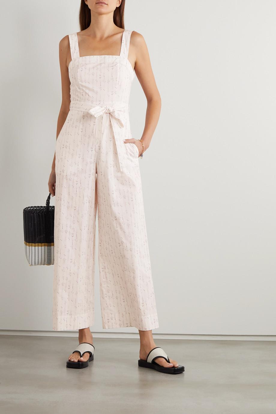 TVF Shortcake Jumpsuit aus Baumwolle mit Blumenprint und Gürtel