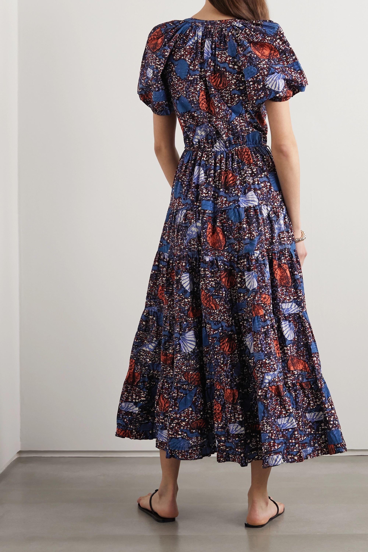Ulla Johnson Claribel printed cotton-poplin midi dress