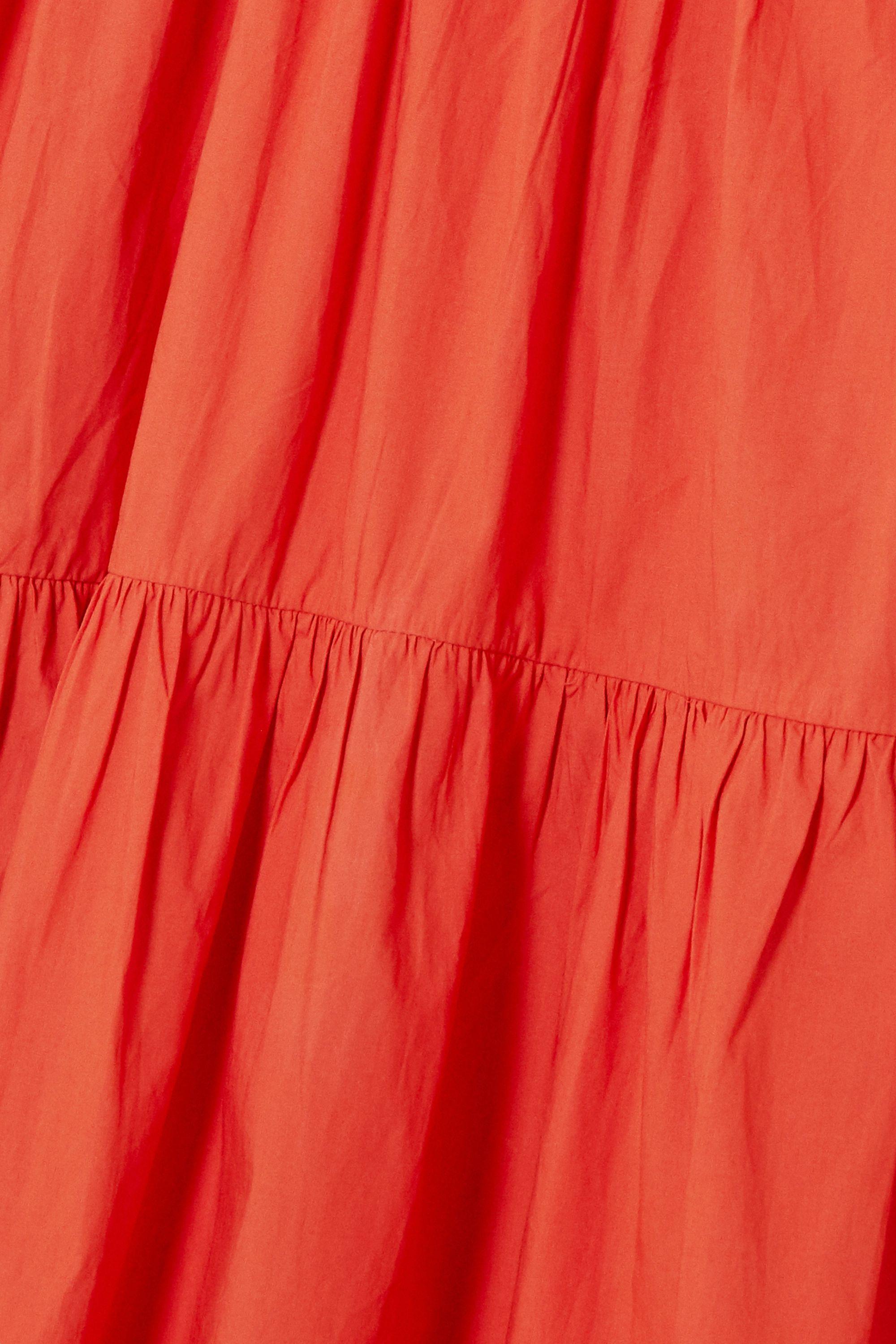 Corail Robe En Coton À Volants Tamsin | Ulla Johnson