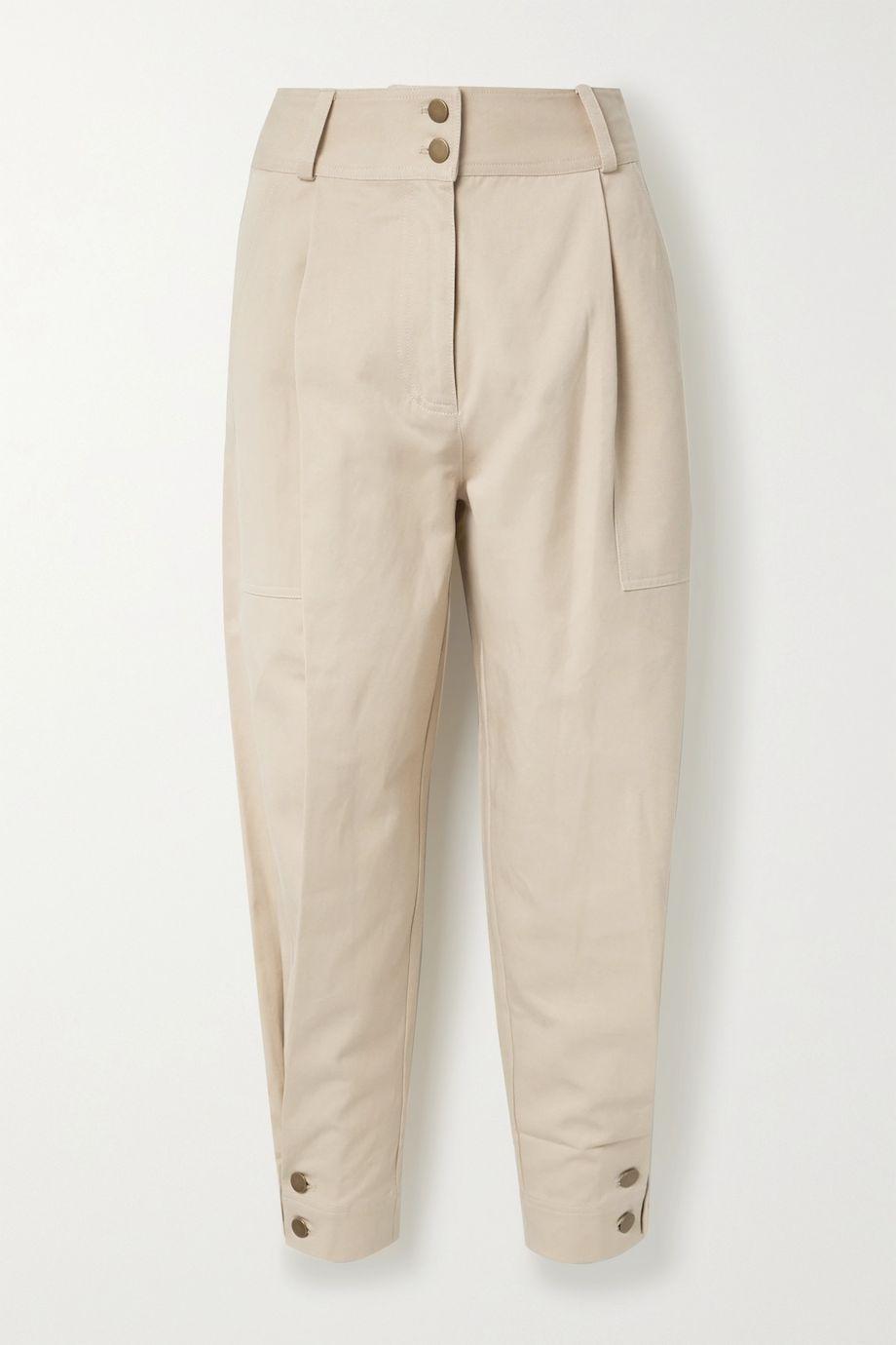 Ulla Johnson Fleet 天丝棉质混纺斜纹布锥形裤