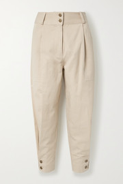 Ulla Johnson Fleet Tencel and cotton-blend twill tapered pants
