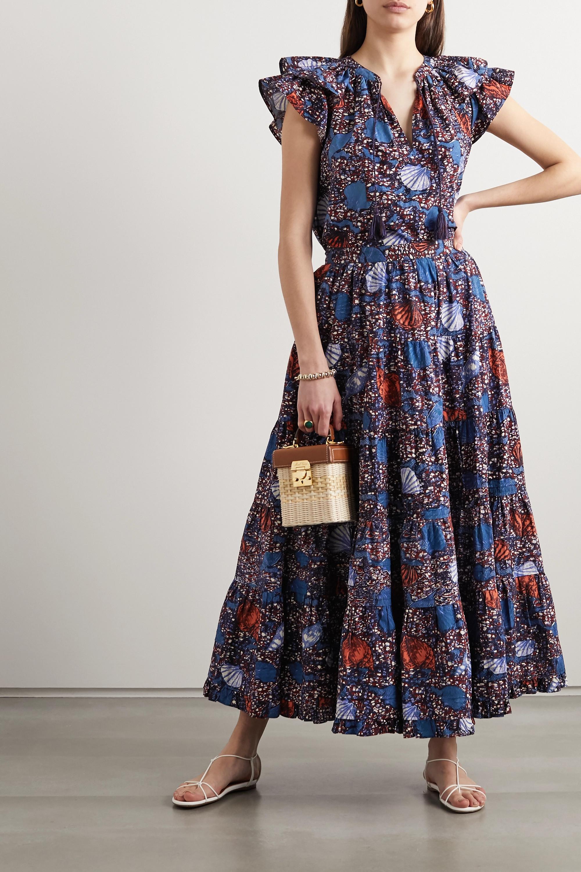 Ulla Johnson Sylvie pleated printed cotton midi skirt