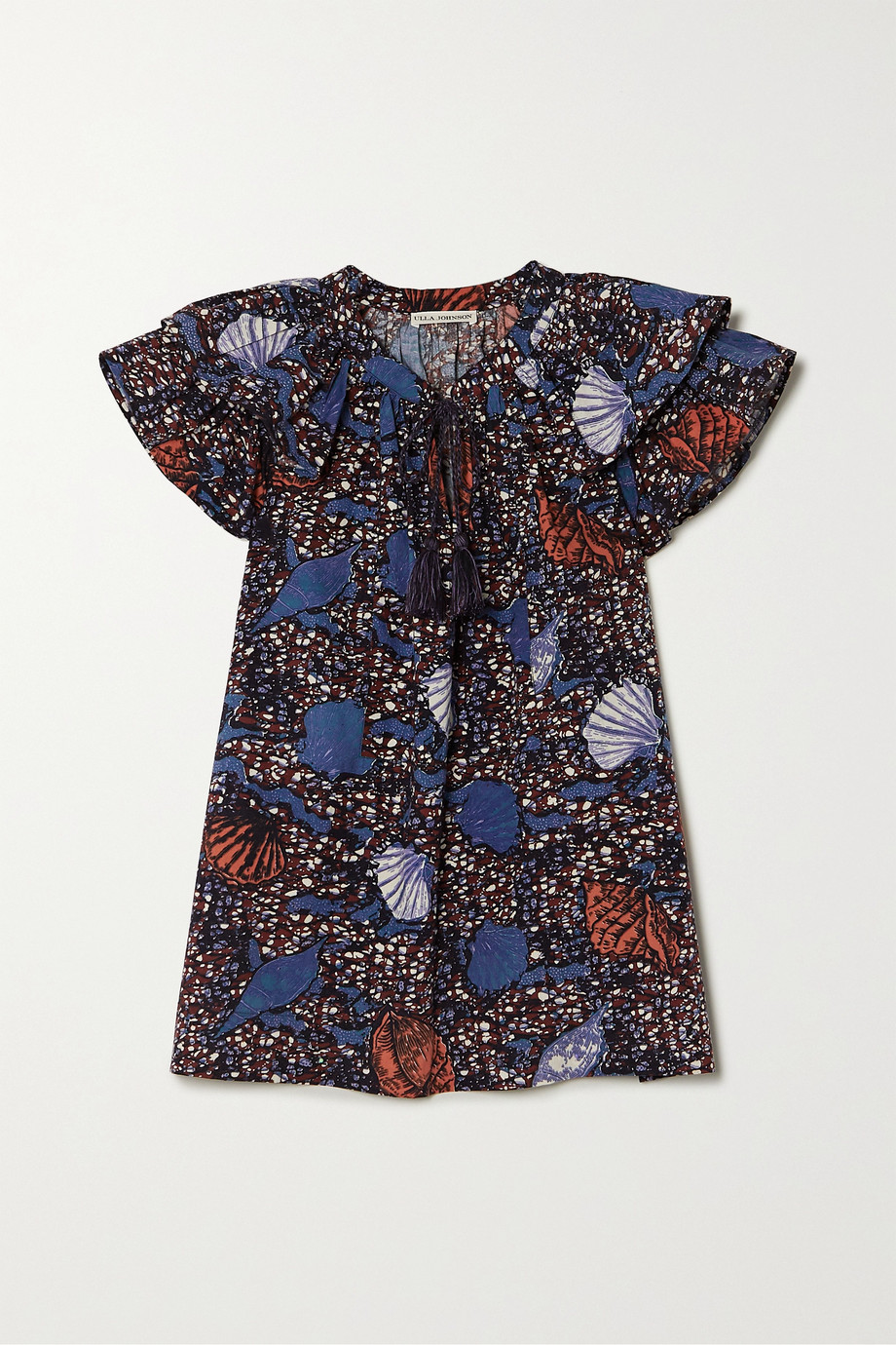 Ulla Johnson Elm ruffled printed cotton top