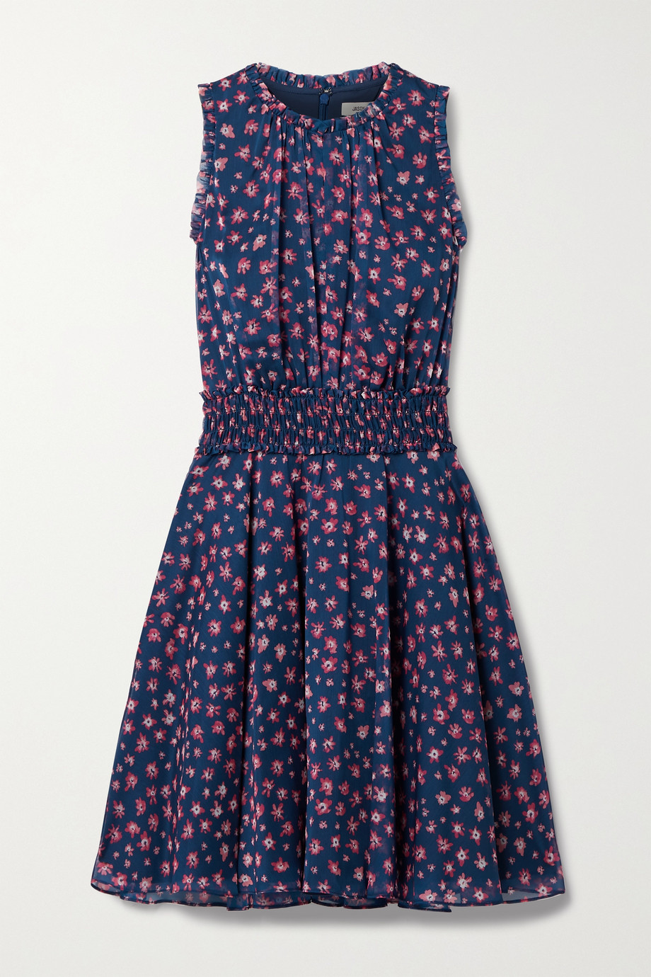 Jason Wu Shirred floral-print chiffon dress