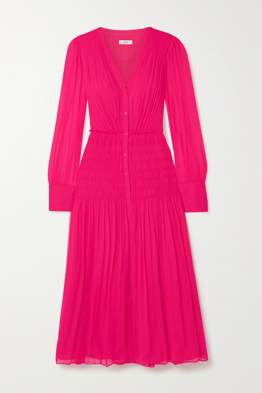 Jason Wu Shirred silk-crepon midi dress