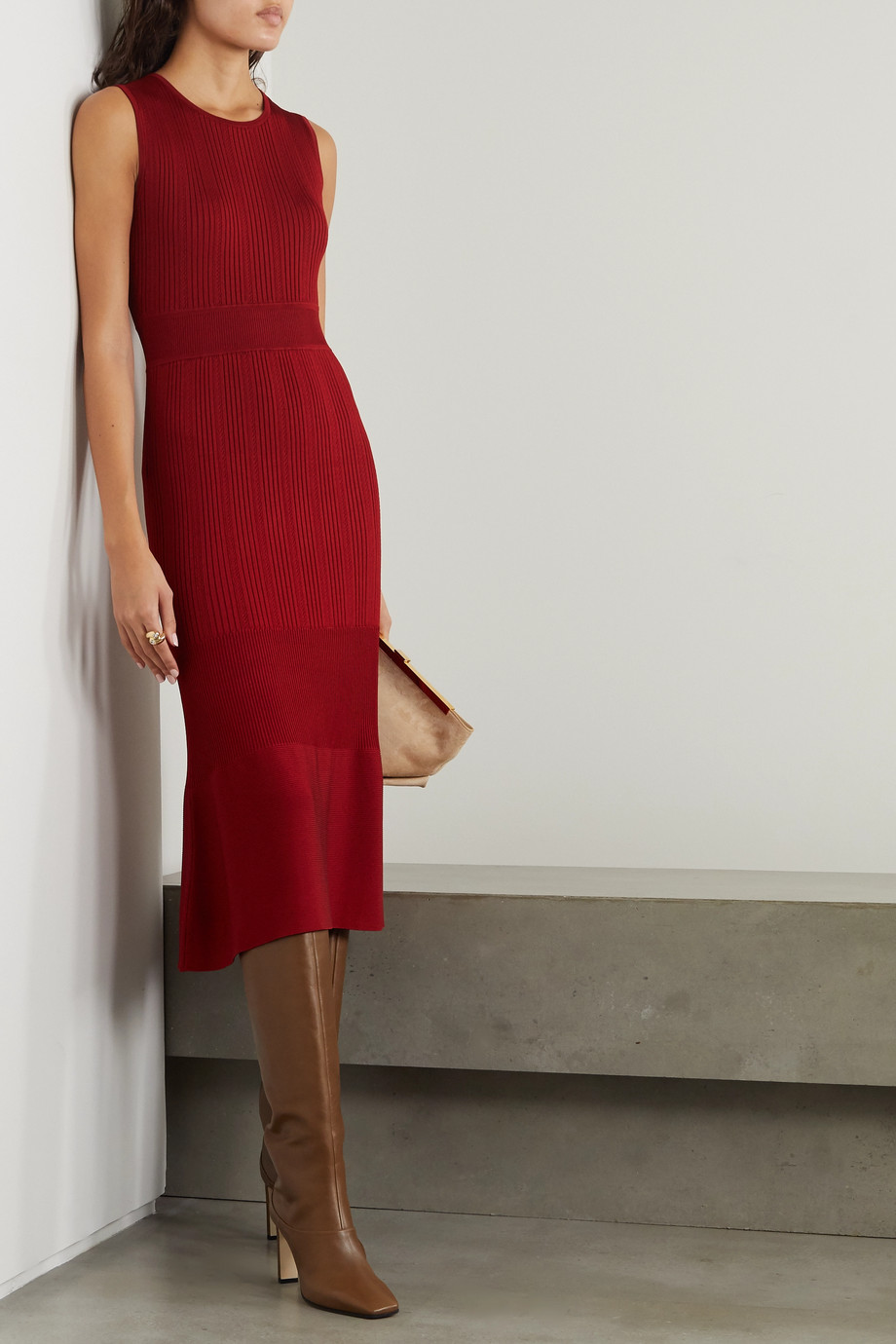 Jason Wu Ribbed-knit dress