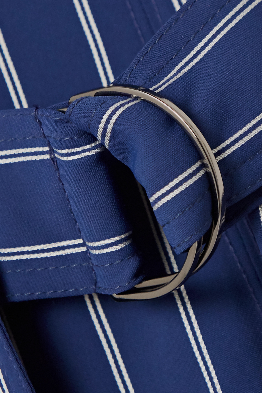 Jason Wu Pinstriped woven wrap midi dress