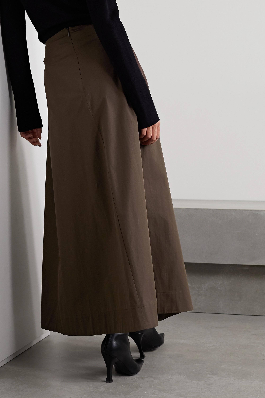 BITE Studios + NET SUSTAIN paneled organic cotton-poplin maxi skirt