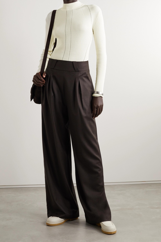 BITE Studios + NET SUSTAIN ribbed organic cotton and silk-blend sweater