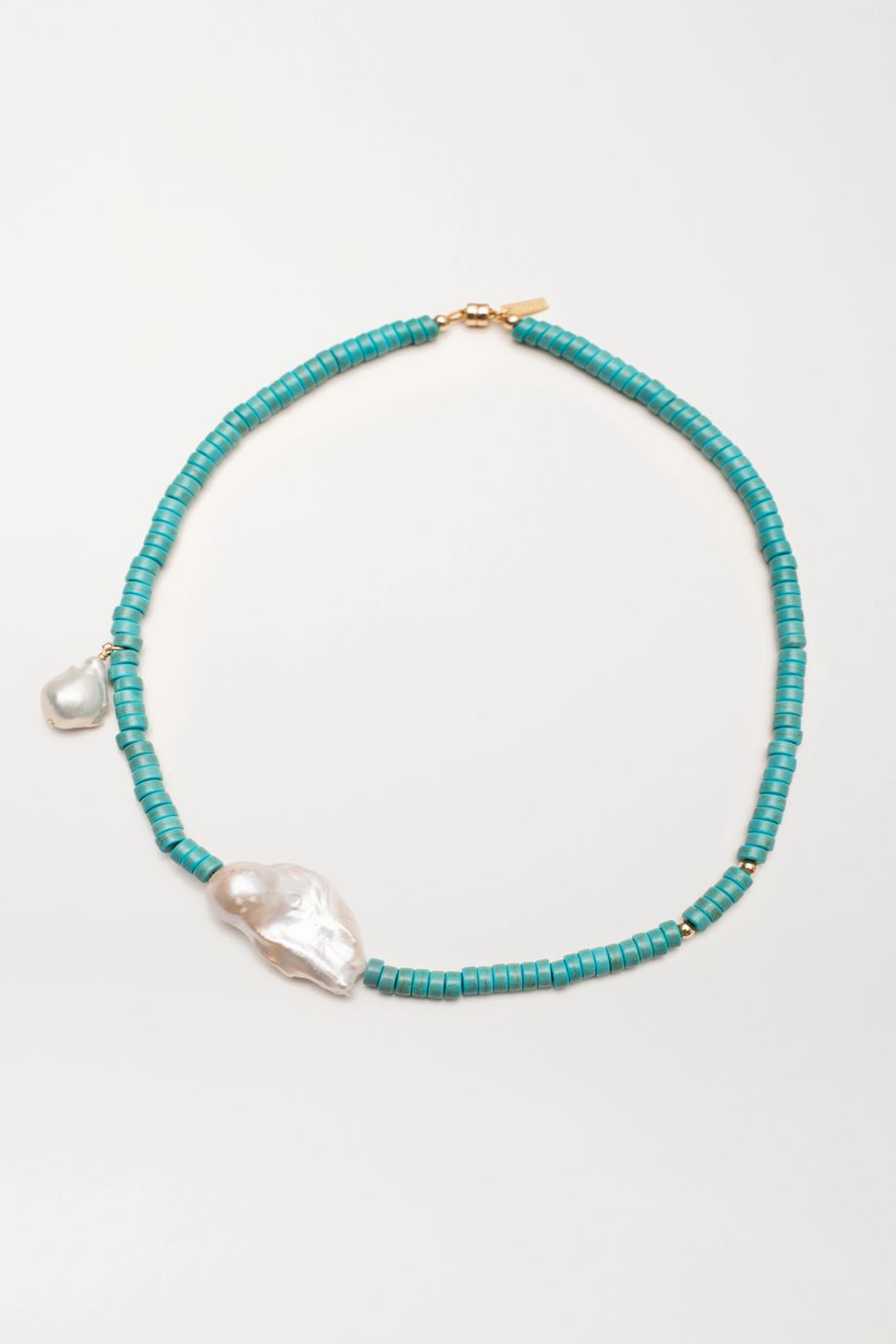 éliou Gela turquoise and pearl necklace